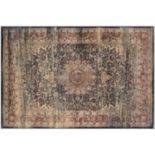 Couristan Zahara Lotus Medallion Framed Floral Rug