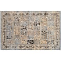 Couristan Zahara Column Panel Framed Floral Rug