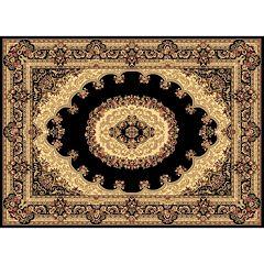 Rugs America Kerman Framed Floral Rug