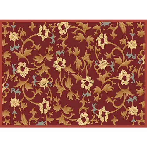Rugs America Torino Bouquet Framed Floral Rug