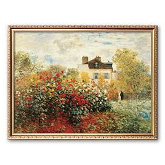 Art.com 'The Artist's Garden in Argenteuil' Framed Wall Art by Claude Monet