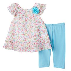 Toddler Girl Marmellata Classics Chiffon Tunic & Capri Leggings Set