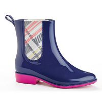 Henry Ferrera Clarity Women's Water-Resistant Plaid Rain Boots