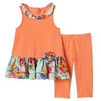 Baby Girl Marmellata Classics Tunic Tank & Capri Leggings Set