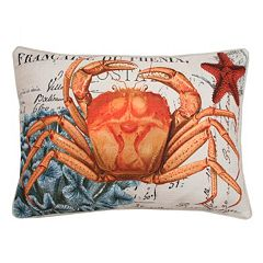 Thro by Marlo Lorenz French Coastal Crab Throw Pillow