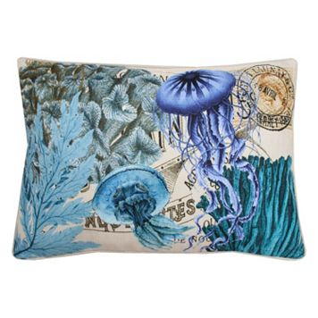 Thro by Marlo Lorenz French Coastal Jellyfish Throw Pillow