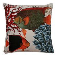 Thro by Marlo Lorenz French Coastal Fish Throw Pillow