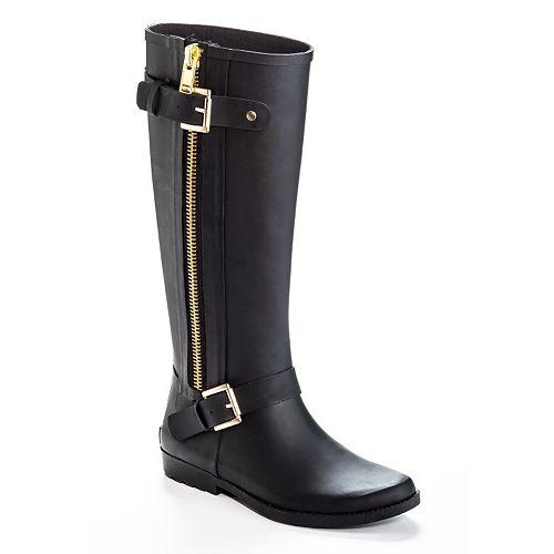Ferrera Bond Women's Water-Resistant Zipper Rain Boots