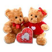 Alder Creek Hugs & Kisses Bear Plush Gift Set