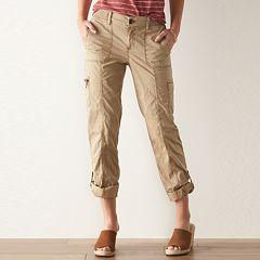 Womens Beig/khaki Crops & Capris - Bottoms, Clothing | Kohl's