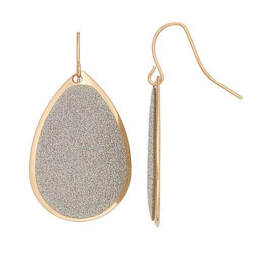 Glitter Teardrop Earrings