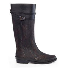 Henry Ferrera J Women's ... Water-Resistant Textured Rain Boots