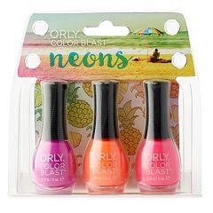 Orly Color Blast 3 pc Neons Nail Polish Gift Set