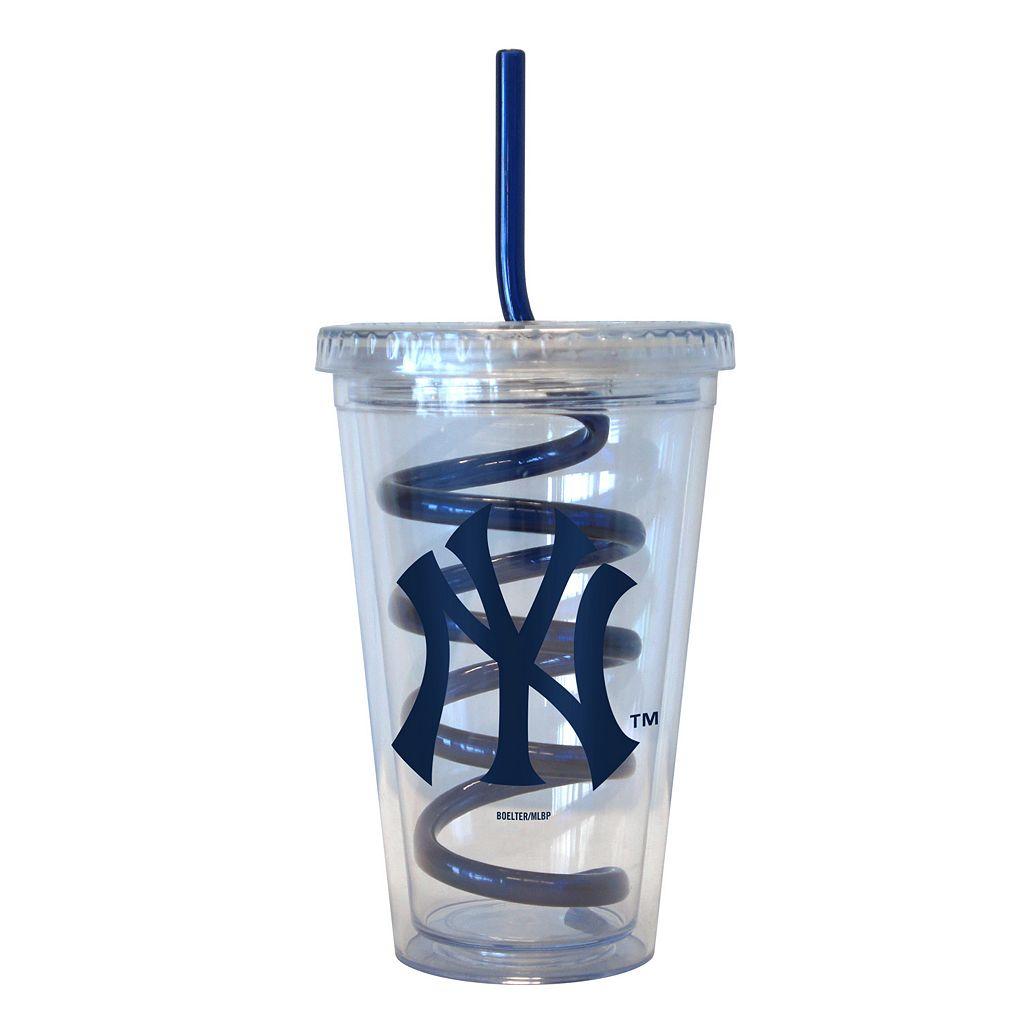Boelter New York Yankees Swirl Straw Tumbler