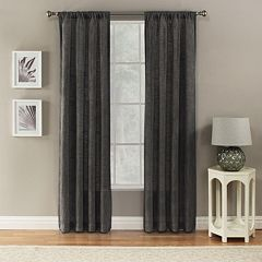 Corona 1 Panel Window Curtain Charlet Ocean Rod Pocket