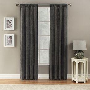 Corona 1-Panel Window Curtain Charlet Ocean Rod Pocket Window Curtain