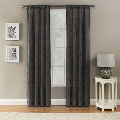 Corona 1-Panel Window Curtain Charlet Ocean Rod Pocket Window Curtain