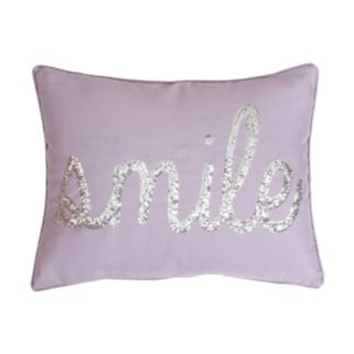 Thro by Marlo Lorenz ''Smile'' Sequin Throw Pillow