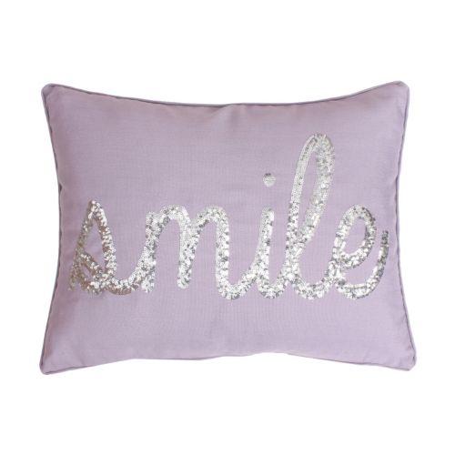 Thro by Marlo Lorenz ''Smile'' Sequin Throw Pillow
