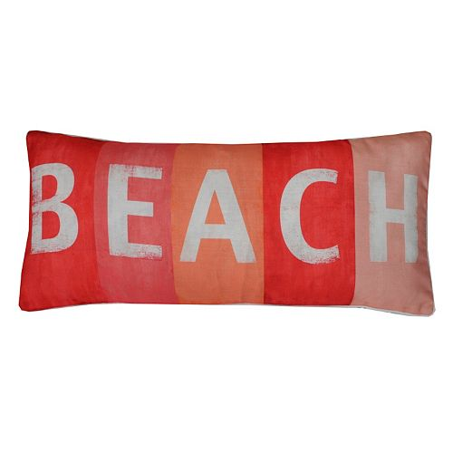 Thro by Marlo Lorenz ''Beach'' Sign Throw Pillow