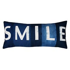 Thro by Marlo Lorenz ''Smile'' Sign Throw Pillow