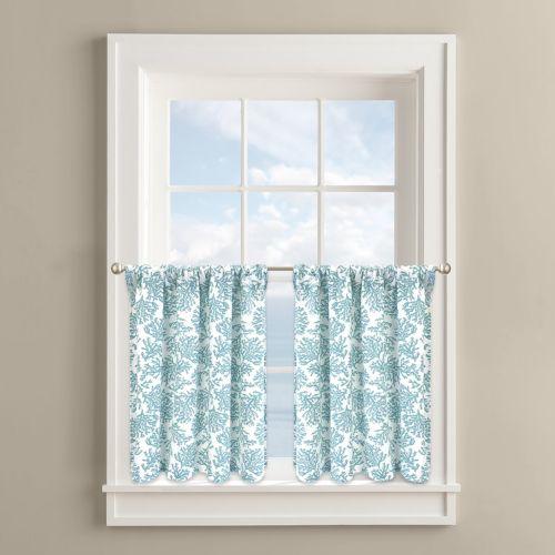Colordrift Coral Cape 2-pk. Tier Curtains