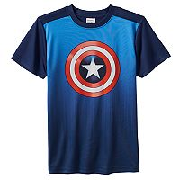 Boys 8-20 Marvel Captain America Logo Tee