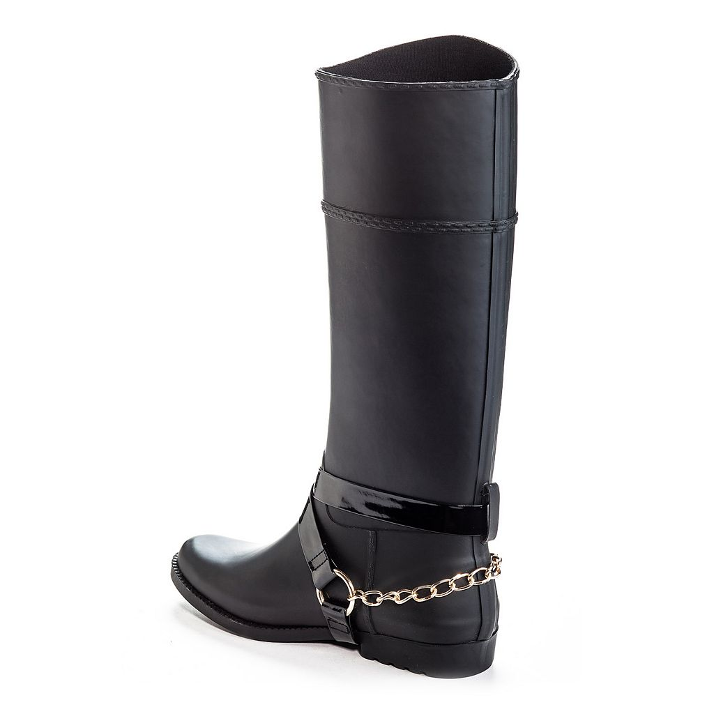 Henry Ferrera Bond Women's Water-Resistant Harness Rain Boots