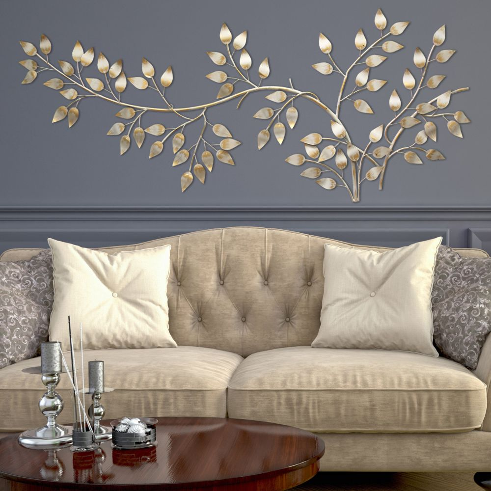 Metal Leaves Wall Decor home decor flowing leaves metal wall decor