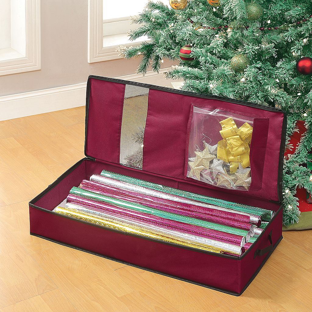 Neu Home Christmas Wrapping Paper Organizer