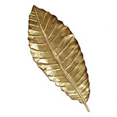 Stratton Home Decor Elegant Leaf Metal Wall Decor