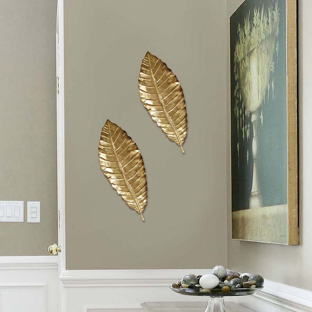 Stratton Home Decor Elegant Leaf Metal Wall Decor