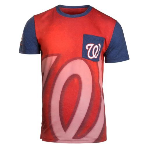 Men's Forever Collectibles Washington Nationals Pocket Tee