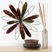 Stratton Home Decor Flower Burst Metal Wall Decor