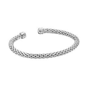 Sterling Silver Mesh Cuff Bracelet