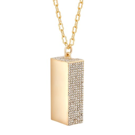 Yellow Ion-Plated Pave Enhancer Pendant for Fitbit® Flex™