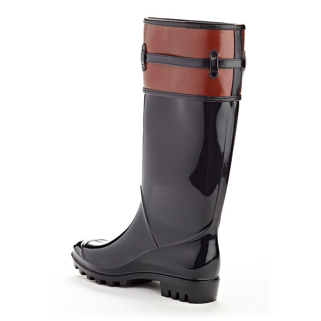 Henry Ferrera Opera Women's Water-Resistant Two-Tone Rain Boots