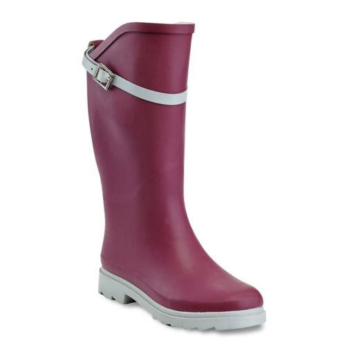 Henry Ferrera Nuface Women's Water-Resistant Two-Tone Rain Boots