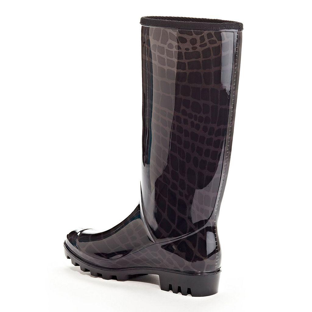 Henry Ferrera Swimmer Women's Water-Resistant Rain Boots