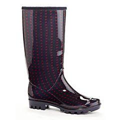Henry Ferrera Hearts Women's Water-Resistant Rain Boots