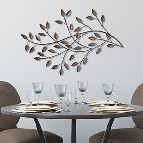 Stratton Home Decor Blowing Leaves Metal Wall Decor