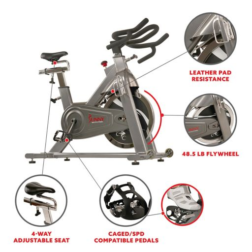 Sunny Health & Fitness Commercial Indoor Cycling Bike (B1516)