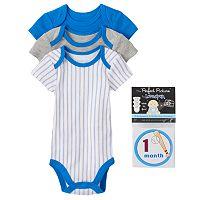 Baby Boy Vitamins Baby 3-pk. Bodysuit & Sticker Set