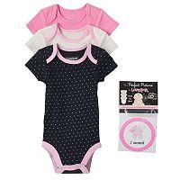 Baby Girl Vitamins Baby 3-pk. Bodysuit & Sticker Set