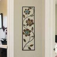 Stratton Home Decor Winding Flowers Metal Wall Decor