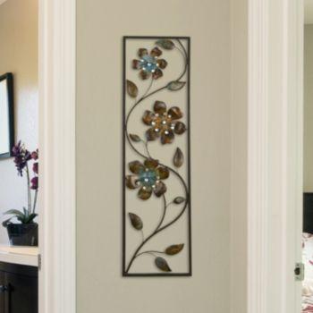 Stratton Home Decor Winding Flowers Metal Wall Decor