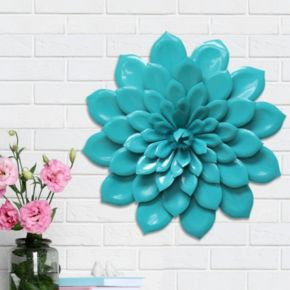 Stratton Home Decor Layered Flowers Metal Wall Decor