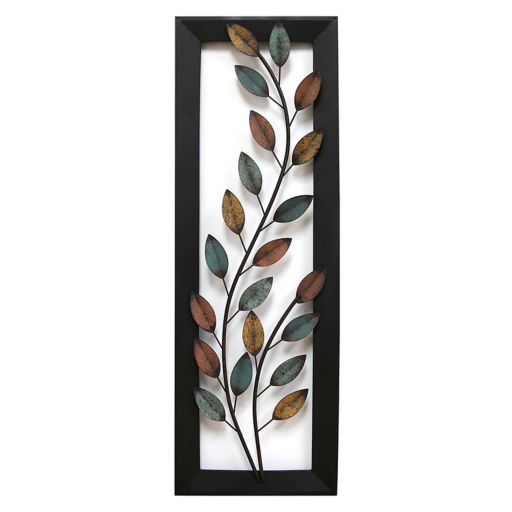 Stratton Home Decor Winding Leaves Metal Wall Decor