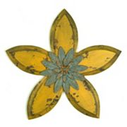 Stratton Home Decor Yellow Antique Flower Wall Decor