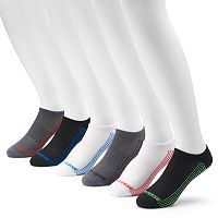 Men's Converse 6-pack Patterned Half-Cushioned No-Show Socks